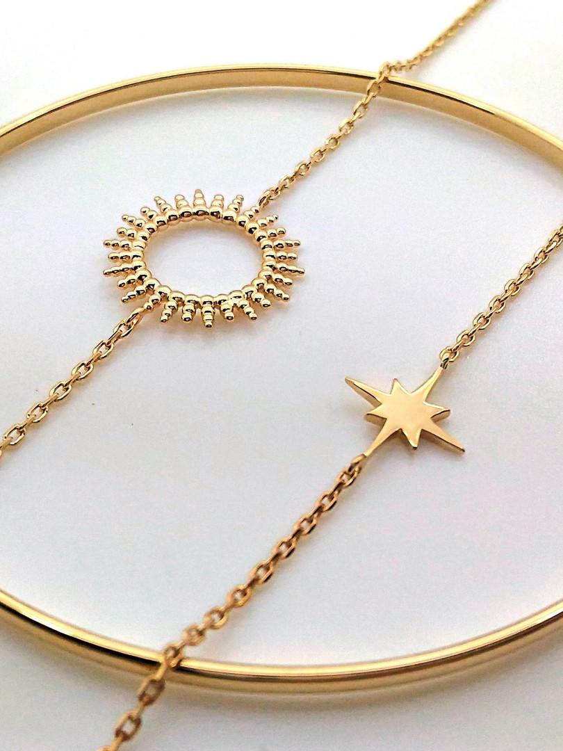 bracelet étoile et soleil