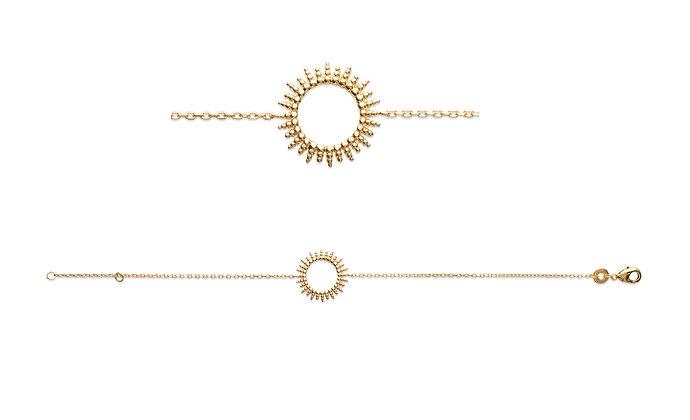 Bracelet soleil plaqué or N°1