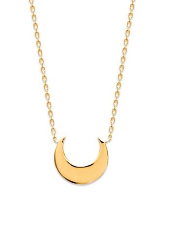 collier talisman croissant de lune