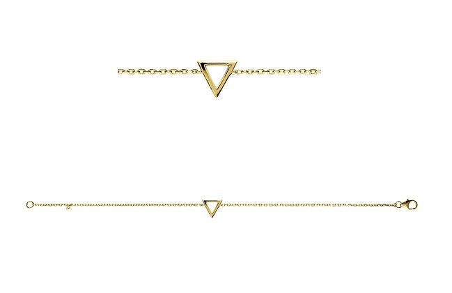 Bracelet triangle plaqué or