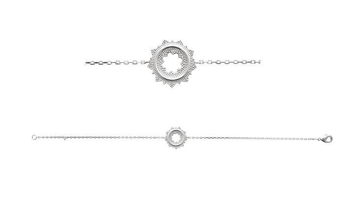 Bracelet soleil argent 925 N°2