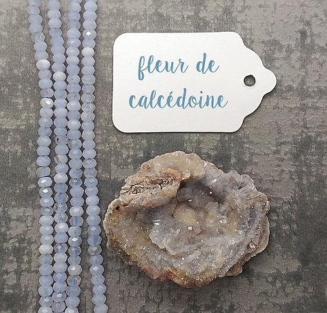 Calcédoine bleue vertus et propriétés, pierre pour lithothérapie.