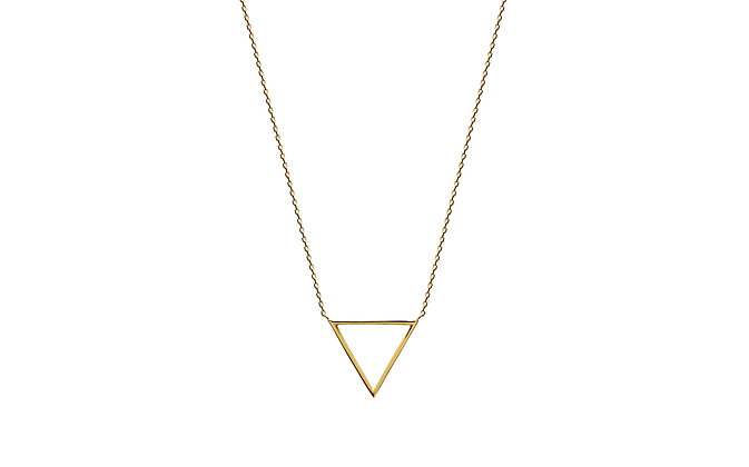 Collier triangle plaqué or