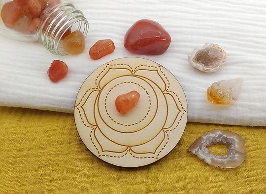 Les pierres du chakra sacré pour lithothérapie, féminin sacré et énergétique.