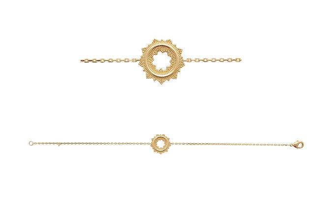 Bracelet soleil plaqué or N°2