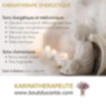 Karmathérapie. Thérapie karmique. Thérapeute karmique. Karmathérapeute.  Hypnose spirituelle. Hypnose régressive. blessures karmiques. mémoires karmiques.