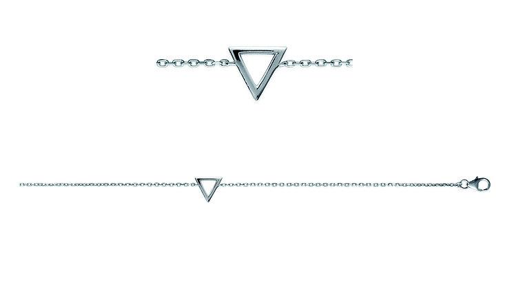 Bracelet triangle argent 925