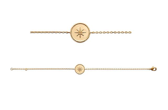 Bracelet soleil plaqué or N°3