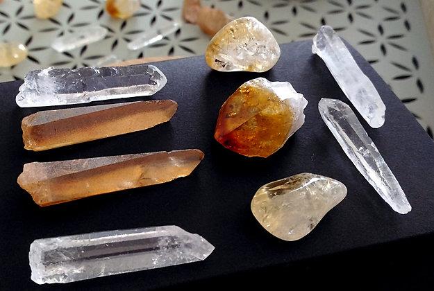 CITRINE kit pierres harmonisation chakra solaire
