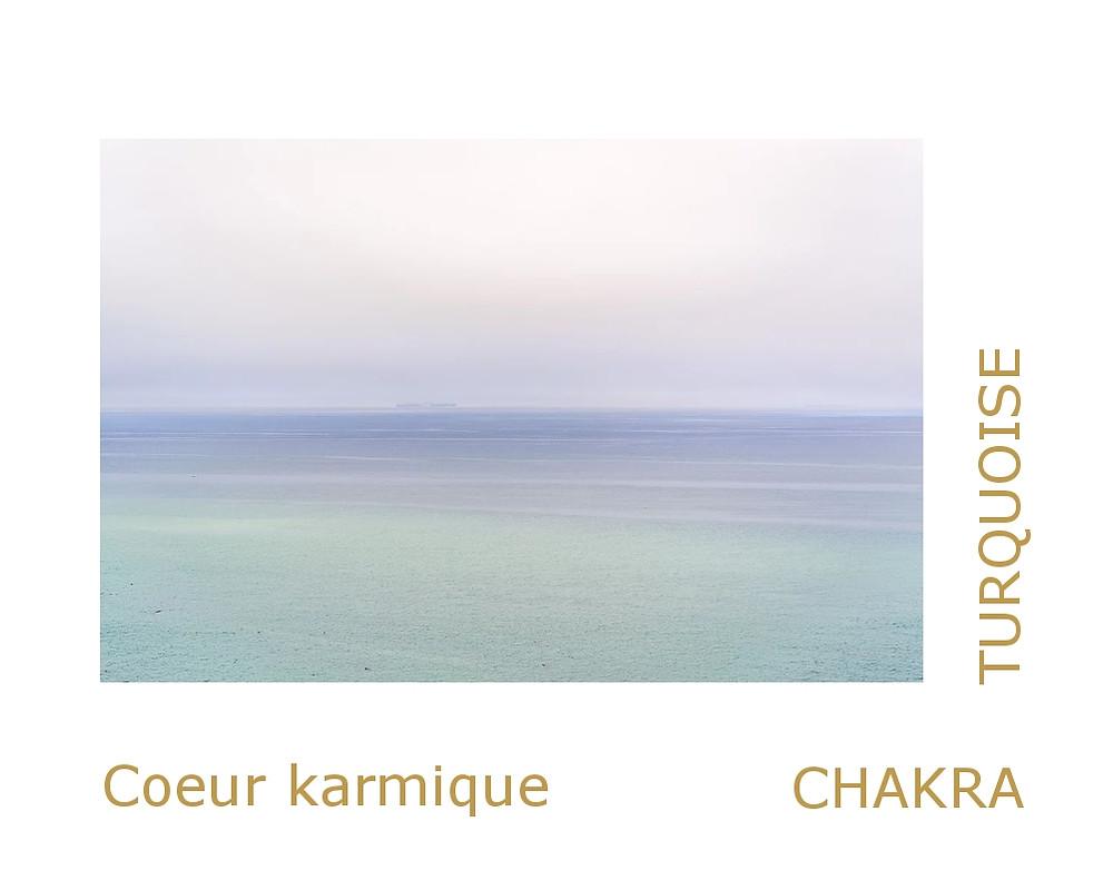 débloquer le chakra turquoise (thymus). chakra du coeur karmique.