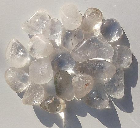 Cristal de roche Pierre polie - clairvoyance