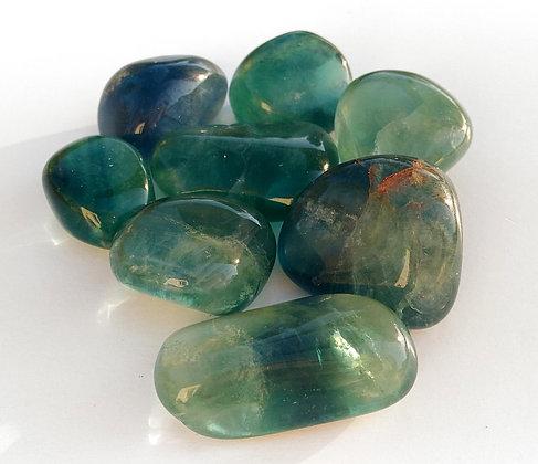 Fluorite verte pierre polie