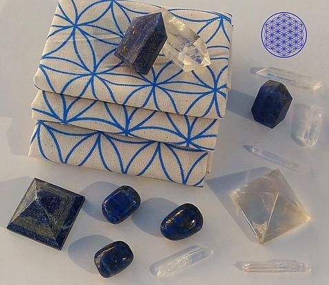 Les pierres du chakra frontal pour lithothérapie et chakra du troisième oeil.