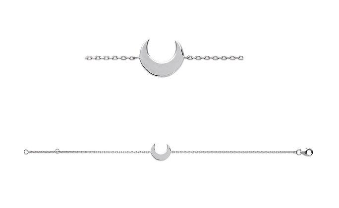 Bracelet lune argent 925 n°1