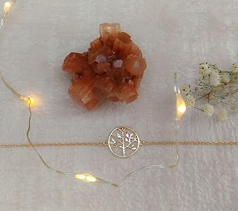 bracelet arbre de vie argent 925 et plaqué or. arbre de vie bijou.