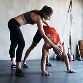 Personal Trainer Stretching Session