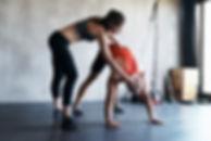 Personal Trainer estiramiento Sesión