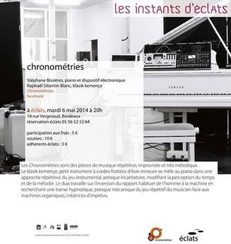 Restitution de résidence chez la Compagnie Eclats (Bordeaux) pour la création Chronométries
