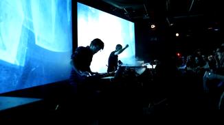 Temps Réels à Clermont-Ferrand lors de la nuit des arts numériques du festival Vidéoformes.