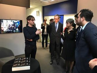 Présentation de Hard Drives Music et Human Likes au secrétaire d'état au numérique M. Mounir Mah