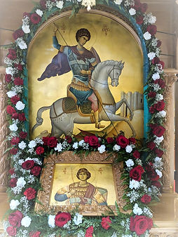 Icon of Saint George on horse