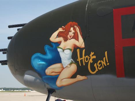 Hot Gen - sign paint on a B-25