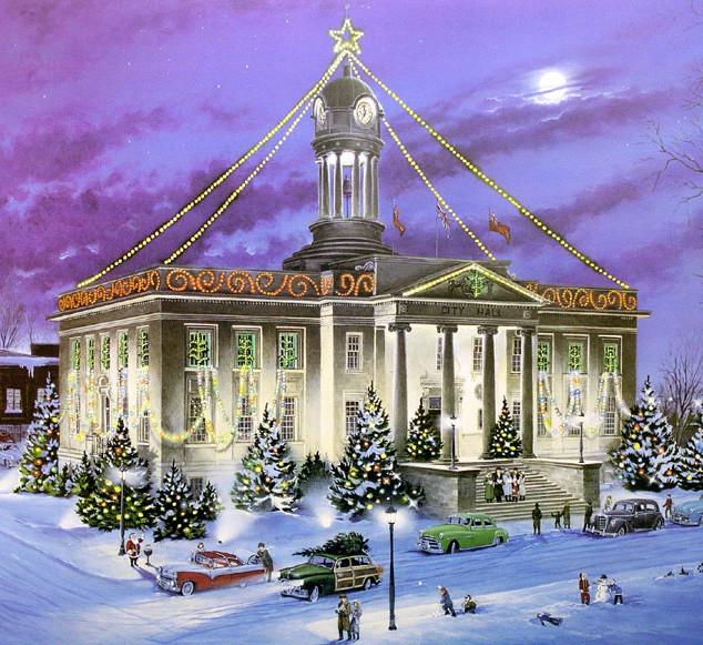 KITCHENER CHRISTMAS PAST - 1994, acrylic on panel