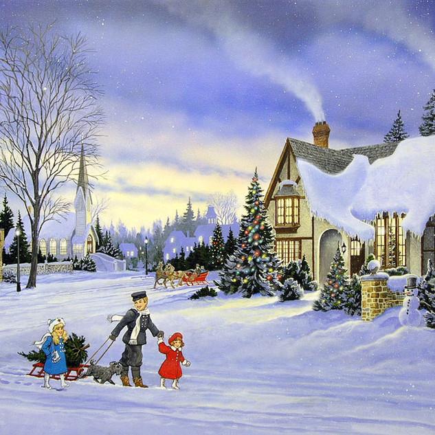 THE CHRISTMAS TREE - acrylic on artboard circa 2000
