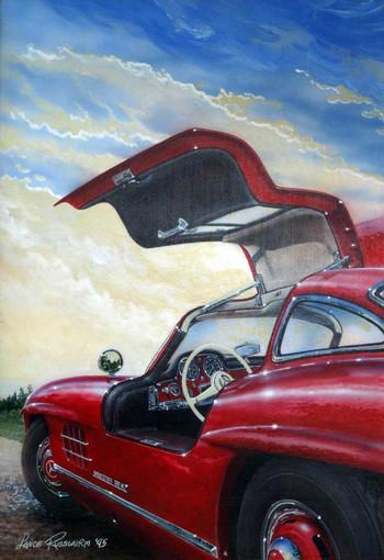 300 SL - acrylic on panel