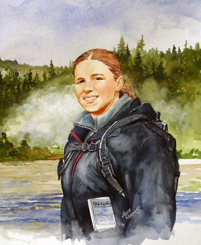 Tamara now - 2020, watercolour on paper