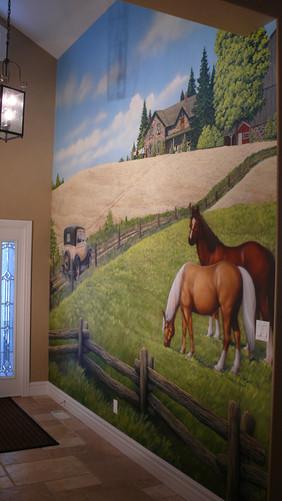 Horses in a Lobby