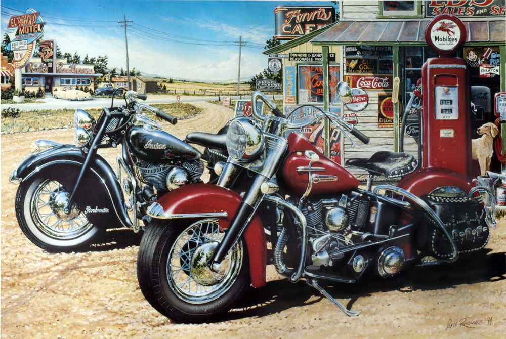 2 For the Road - 1994, acrylic on panel