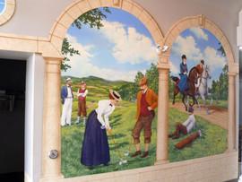 Golf - mural