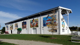 Grandstand mural in New Hamburg