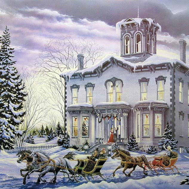 CHRISTMAS AT KILBRIDE - 1994, acrylic on panel