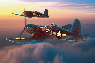 CORSAIRS AT SUNSET