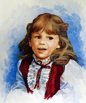 Tamara then - 2020, watercolour on paper