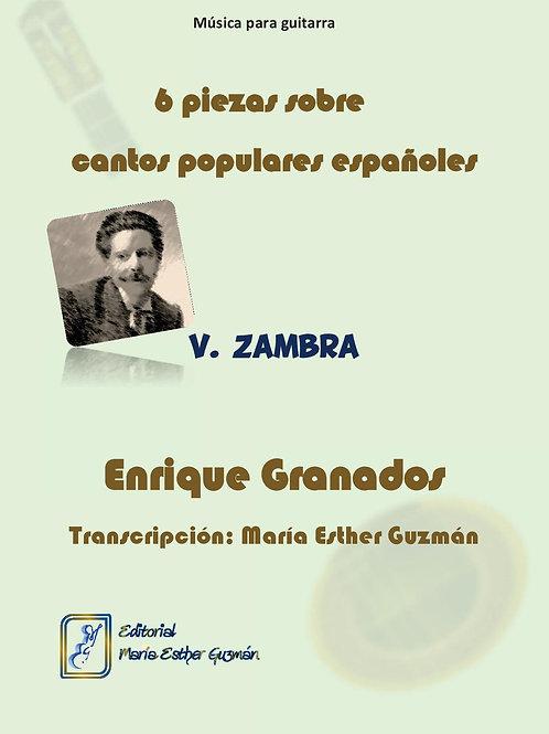 """Granados, E, (Tr. M.E.Guzmán) """"Zambra"""""""