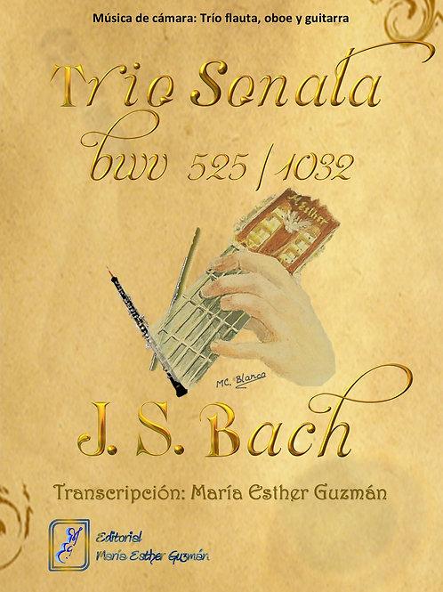 """Bach, J.S. (Tr. M.E.Guzmán)  """"Trío Sonata BWV 525/1032"""""""