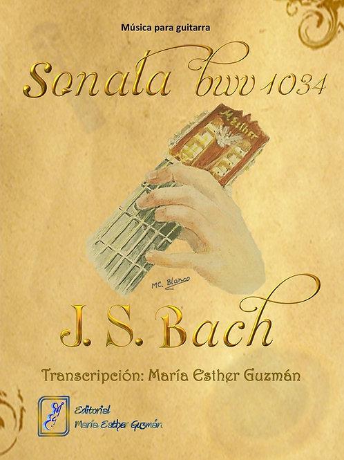 """Bach, J.S. (Tr. M.E.Guzmán) """"Sonata BWV 1034"""""""