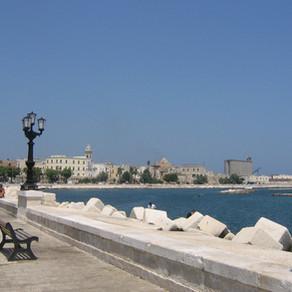 Uma parada em Bari, no sul da Itália