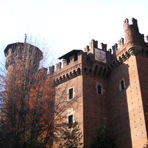 Um burgo medieval em Torino, na Itália