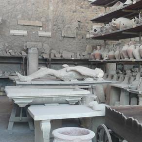 Como são as ruínas de Pompeia