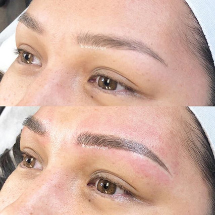 Top picture healed eyebrow and bottom after touch up!!_._Permanent Makeup Ibrows by Olga.jpg