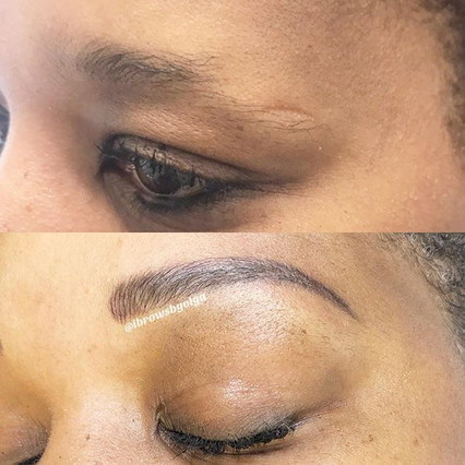 Waterproof eyebrows!! That is what she wanted for Christmas!!! We performed a combination of microblading and shading!! Permanent Makeup Ibr