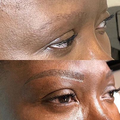 Soft and subtle eyebrows for this gal! She was very specific about look natural and super light! She just wanted to see the shape and that i