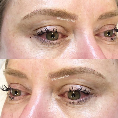 Soft and natural looking eyebrows !!! Perfect color for her!!_._Permanent Makeup Ibrows by Olga.jpg