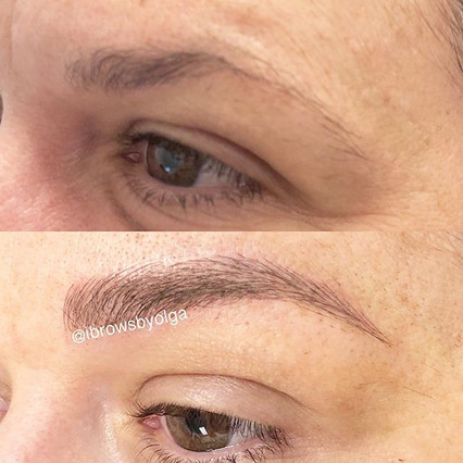 This gal already had eyebrows to work with but need more fullness and definition, also a little lift. Permanent Makeup Ibrows by Olga.jpg