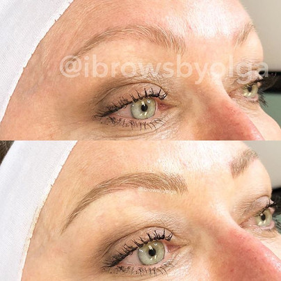 Touch up to build these eyebrows for this gorgeous gal!!_._Permanent Makeup Ibrows by Olga.jpg