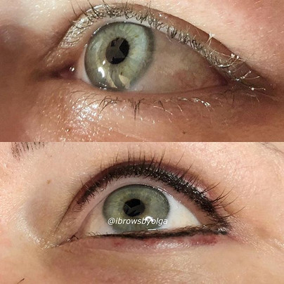 Smoky eyeliner done today to this gorgeous gal!!! the swelling and redness go down in a few hours after procedure!!_,_Permanent Makeup Ibrow